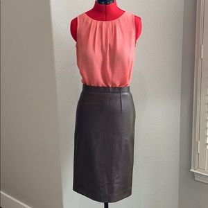 Burberry leather pencil skirt **Damaged on back**